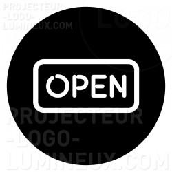 Projection lumineuse visuel Gobo Open