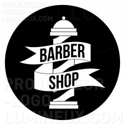 Projection lumineuse gobo visuel Barber shop