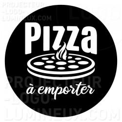Projection lumineuse visuel Gobo Pizza à Emporter