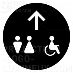 Light projection on the floor Gobo Restroom and toilet direction