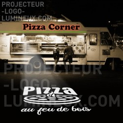 Food truck and pizza truck illuminated sign