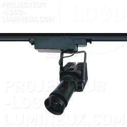 Gobo projector/logo single-phase electrified rail attachment