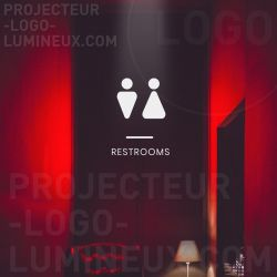 Projection panel/luminous pictogram on the floor/wall, illuminated sign projected floor