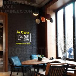 Projection QR code flash code lumineux