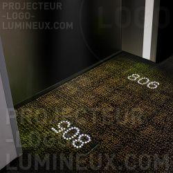 Projecteur numéro de chambre lumineux sol hôtel