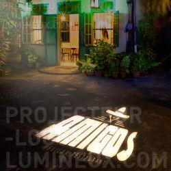 Projection logo lumineux extérieur