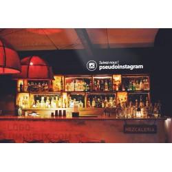 Illuminated Instagram address / pseudo projector