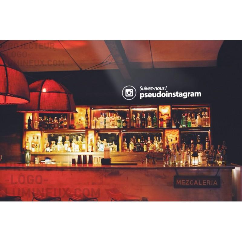 Projecteur adresse/pseudo instagram lumineuse