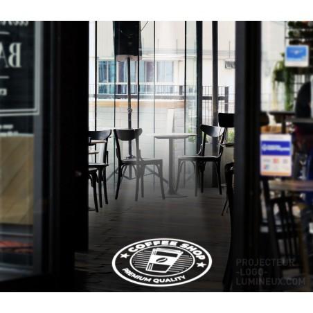 Projector teaches light LED Bar, Restaurant, Pizzeria (inside)