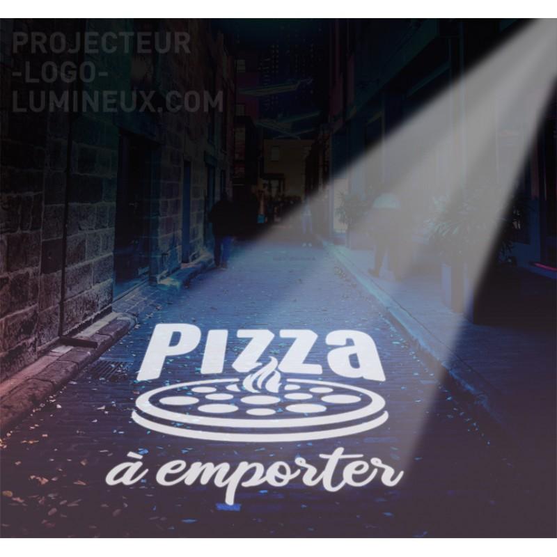 Publicité lumineuse pizzeria extérieur. Enseigne lumineuse pizzeria projetée LED