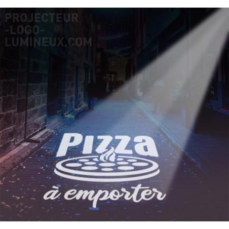 Projector teaches light LED Bar, Restaurant, Pizzeria (outside)