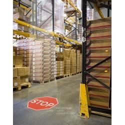 Projection panneau lumineux de signalisation au sol pour usine, industrie et entrepot
