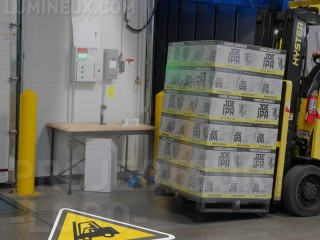 Light panel projection on the ground forklift attention